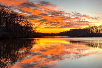 2015 4-1 Swimming River Reservoir Sunrise Reflection-36_7_9-3