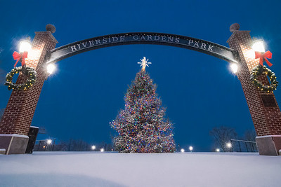 2016 12-17 Red Bank Christmas Tree in Snowfall-45_Full_Res