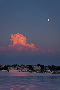 2012 6-30, 7-1 Moon at Sunset, Rumson and Red Bank-100