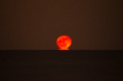 2013 12-18 Monmouth Beach Moon and Jupiter Rising-9