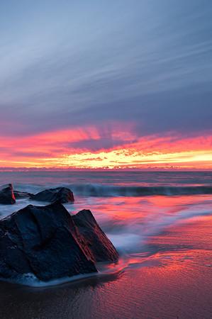 2011 12-27 Sea Bright, Anchorage Beach, Pink Dawn-41