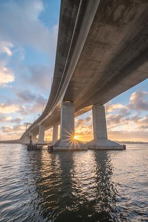 2015 11-27 Sea Bright Highlands Bridge Foggy Sunrise_Full_Res