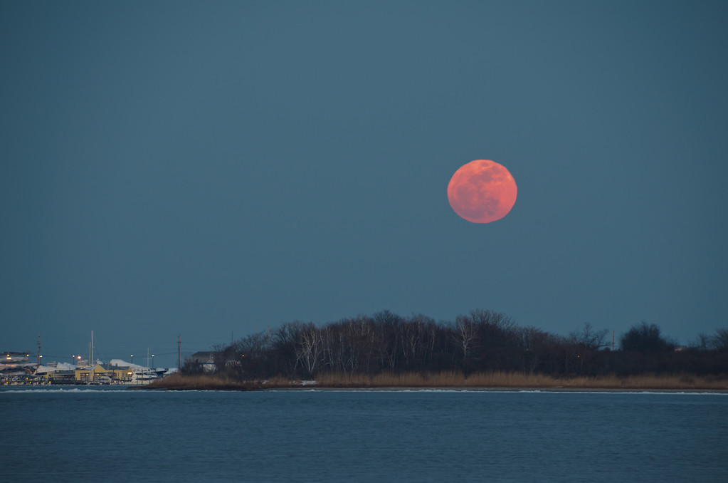 2014 2-14 Sea Bright Navesink Marina Rising Snow Moon-33