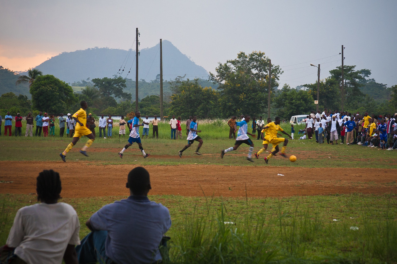 Local Football Game in Yekepa