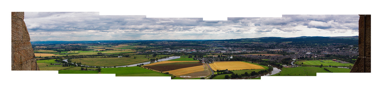 Panoramic View of Stirling from the William Wallace Tower