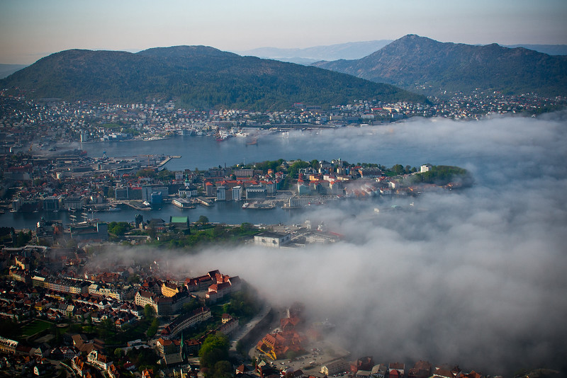 Fog Burning Off in Bergen