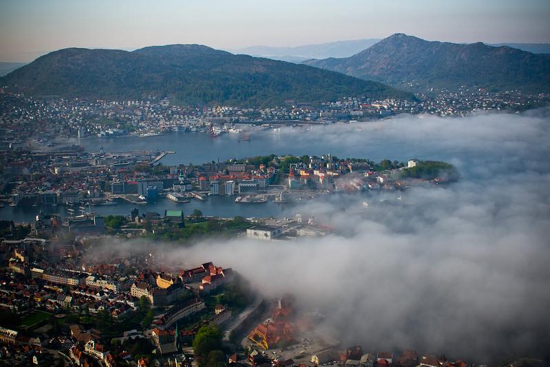 Fog Burning Off in Bergen