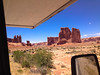 Driving into Arches National Park