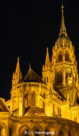 Bayeux Cathedral at Night