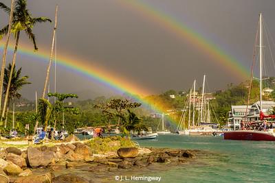 Marigot Bay Double Rainbow