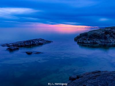 Lake Superior Evening Blue Mood