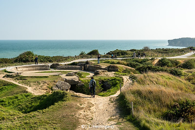 Gun Emplacement Showing Shell & Bomb Cratering, Pointe du Hoc