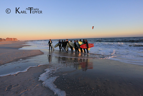 "Memorial Paddle Out for Sarah Ann Horn: 1/19/78-12-23-2013 Dusk ""Paddle Out"" of surfers to honor the memory of Sarah Horn.  Ceremony held on beach at dusk 12/28/2013"