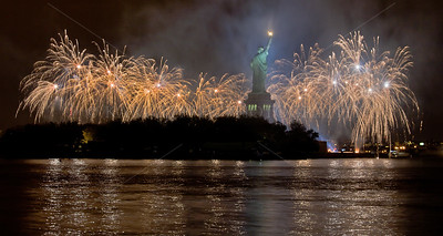 Statue of Liberty's 125th Birthday Celebration, 10/28/11 Golden Glow