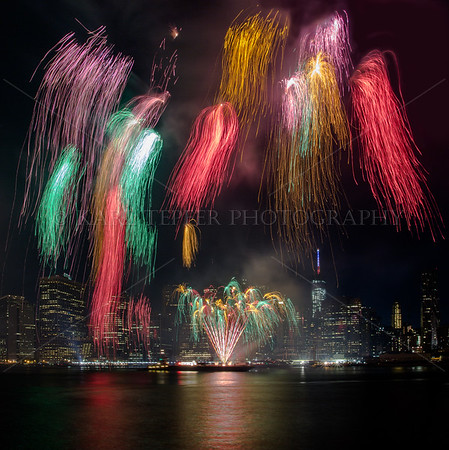 Spectacular Fireworks on July 4th, 2014 over the Freedom Tower and Lower Manhattan by Souza Fireworks...Pyro Spectacular!