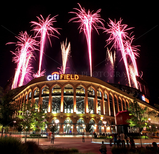 Fireworks over Citi Field after Mets game, 7/15/11. Bay Fireworks, from Long Island, put on this spectacular show. (Mets lost to Phillies, 7-2)