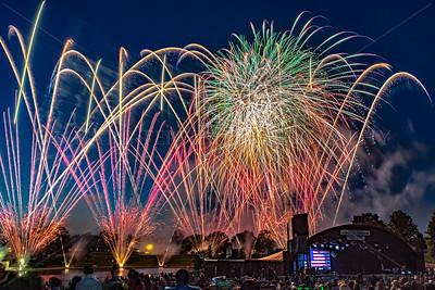 Fireworks show at Eisenhower Park, Long Island New York.  6/29/15
