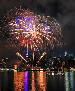 July 4th, 2014 Fireworks over Empire State Building
