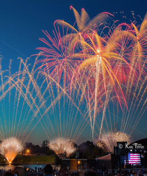 Fireworks show at Eisenhower Park, Long Island New York.  6/29/15