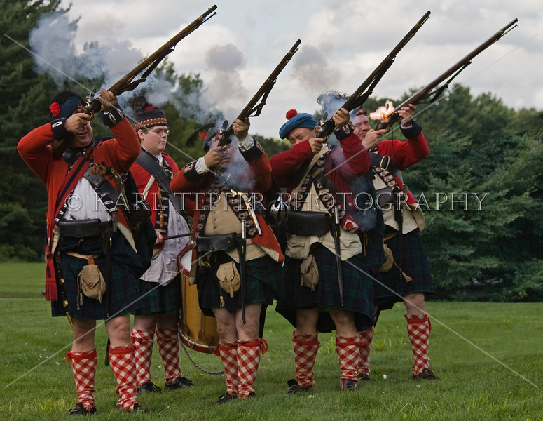 "This is NOT from a Revolutionary War re-enactmant, but rather the ""Scottish Games"" on Long Island.  Seemed to fit in this gallery.  I do not believe that the soilder on rhe right expected the flame to explode into his face when he fired.  (He was not injured)"