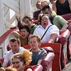 HEADING DOWN!<br /> Cyclone Roller Coaster. Coney Island, Brooklyn, New York.