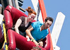 """First steep descent on Cyclone, Coney Island, New York.<br /> 5""""x7"""" crop"""