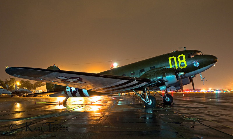 """Taken at Republic Airport, Memorial Day Weekend, 2010 during the """"History Under The Stars"""" event. <br />  I considered it an honor to be selected among the few photographers invited to participate in this nighttime photo shoot at the American Airpower Museum."""
