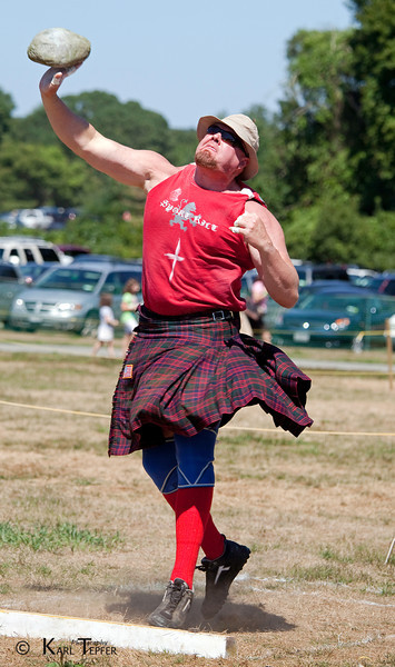 Scottish Festival at Old Westbury Gardens, 2010<br /> Putting the Stone competition.