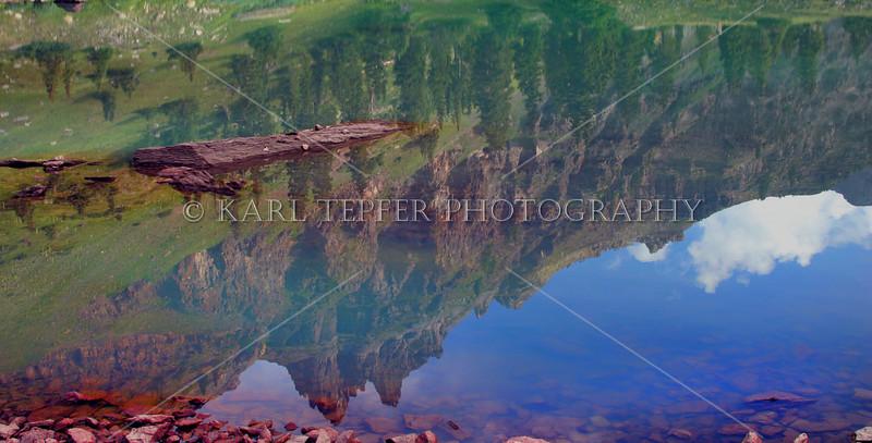 High altitude reflections Rocky Mountains, Colorado.