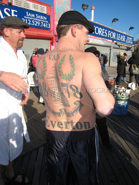 Coney Island Polar Bear Club Swim: New Year's Day 2009<br> Everton Football Club