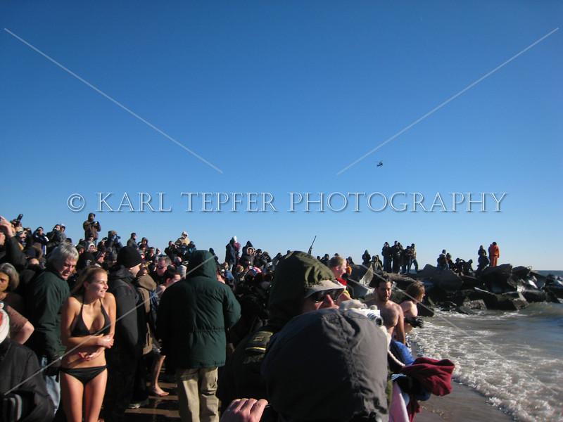 Coney Island Polar Bear Club Swim: New Year's Day 2009