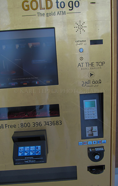 <h2>Gold vending machine at the top of the Burj Khalifa.  I guess it was there in case anyone had a sudden urge to buy a bar of gold and hurl it off of the tallest building in the world.