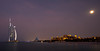 <h2>Full moon....lucky timing. Moon somewhat blurred due to extended shutter exposure. Medinat Jumeirah, another spectacular hotel, on right portion of image.