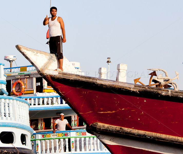<h2>Guiding the ship into Dubai port