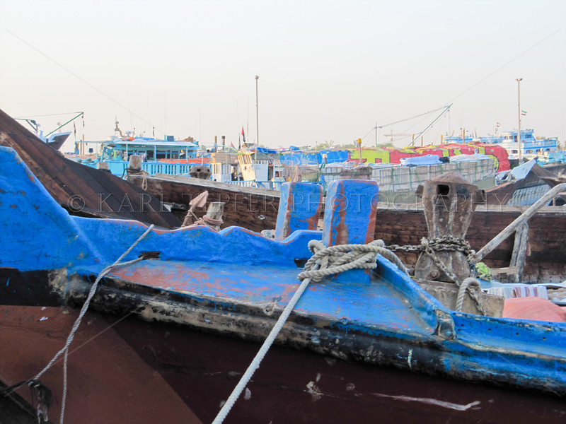 Colorful Dhows, morning sunlight