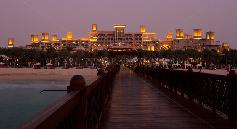 """<h2>This is the pier I was standing on while taking the shots.  Took this while it was """"safe"""" since no golf carts were hurtling towards me at the time.<p> Medinat Jumeirah resort, reportedly where Tom Cruise and Katie Holmes stayed during filming of """"Mission Impossible"""" in Dubai."""