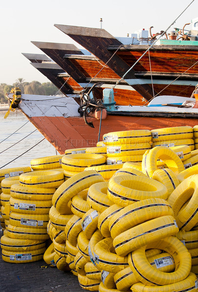 Yellow tires<br /> Dhows