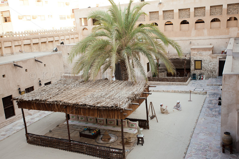 Typical courtyard.