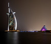 <h2>Burj al Arab and the Jumeirah Beach Hotel on the Persian Gulf