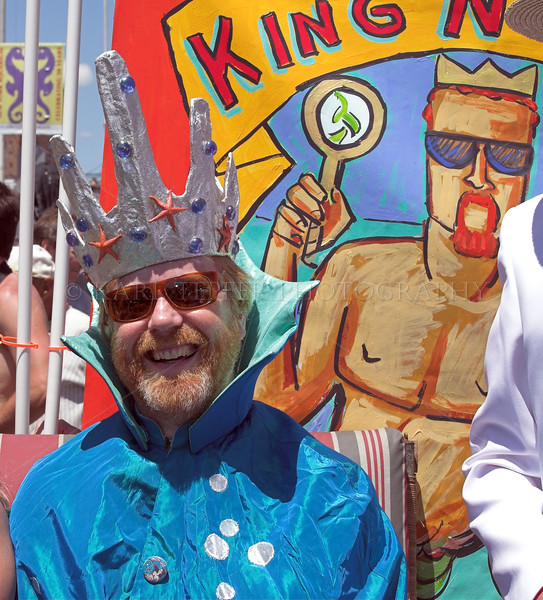 "Adam Savage, from the T.V. show Mythbusters.  He was the grand marshall of the Parade, or ""King Neptune."""