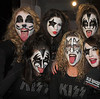 "The official ""Kiss Girls"" who were on the float with Gene Simmons and Paul Stanley during the parade.  This was taken right after the press conference when I asked them to imitate Gene Simmons.  Very obedient girls..... New York City Halloween Parade, 2006."