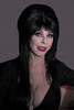 Elvira posed for me prior to the parade New York City Halloween Parade, 2006.