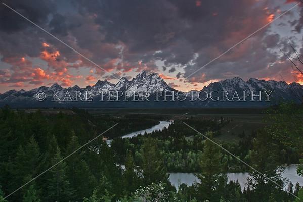 Snake River and Grand Teton Mountains<br /> © 2009 Karl Tepfer