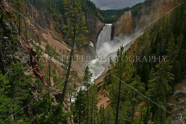 Lower Falls, Grand Canyon of Yellowstone <br /> © 2009 Karl Tepfer