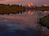 Grand Teton Mountains at Sunrise. Mt. Moran<br /> © 2009 Karl Tepfer