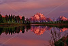 Oxbow Bend at sunrise, Mt. Moran reflected <br /> © 2009 Karl Tepfer