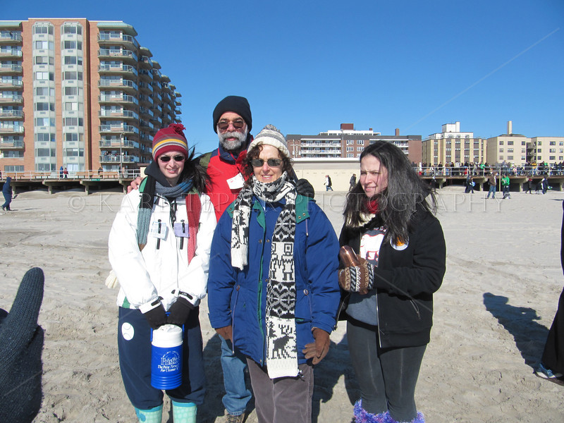 2010 Long Beach Polar Bear Swim.  Another FRIGID day with snow on the beach and brave swimmers plunging into the Atlantic Ocean!