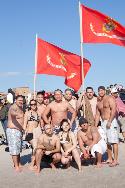 U.S. Marines and friends...