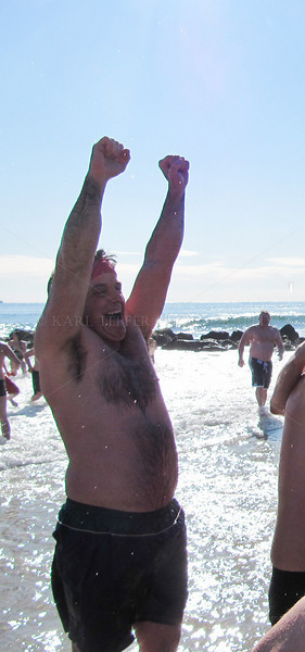 <h2> This represents the feeling many participants had when leaving the very cold Atlantic Ocean. Bravery for a good cause.