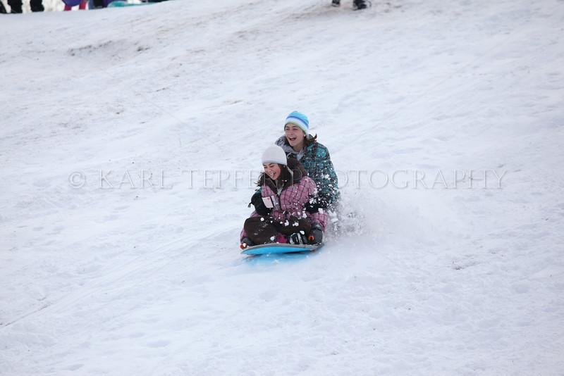 SNOW DAY! Time for sledding fun at Cedar Creek Park in Seaford.